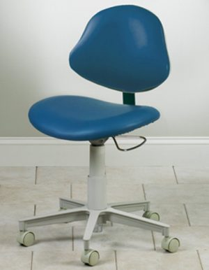 5-Leg Pneumatic Stool w/ Contour Seat and Lumbar-Shaped Backrest