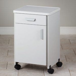 Mobile Molded Top Bedside Cabinet