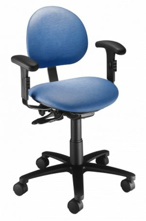 Ergonomic Task Stool with Arm Rests - Model 21435B-BC