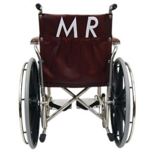 """20"""" Wide MRI Non-Magnetic Transport Chair with Detachable Footrests - Back"""