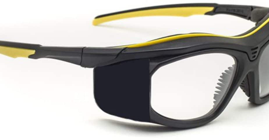 Model F10 Economy Prescription Radiation Glasses - Black / Yellow
